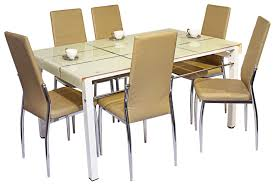 Extendable Dining Table India by Chair Prestine 6 Seater Dining Table Set And Chairs Glass Img 8117