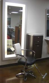 salon mirrors with lights fluorescent back lit mirror has a white acrylic light diffuser frame