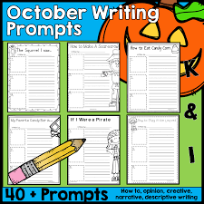 Thanksgiving Writing Prompts First Grade October Writing Prompts Common Core Fall Autumn Creative