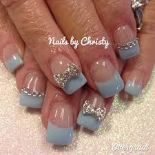 white and blue bows 45 wonderful bow nail designs hative