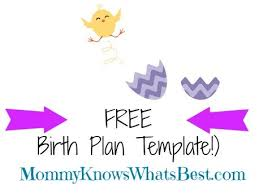 my birth plan and birth plan template