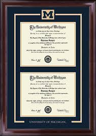 of michigan diploma frame of michigan spirit medallion diploma frame in