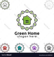 home design logo green home logo real estate logo design royalty free vector