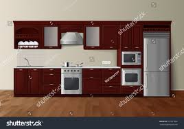 modern luxury kitchen designs modern luxury kitchen dark brown cabinets stock vector 527027866