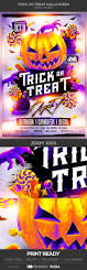 trick or treat halloween party flyer halloween party flyer