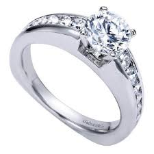 channel engagement ring 1 50cttw graduated channel set engagement ring with