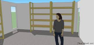 how to build a shelf for the garage 3d view of shelf design garage shelf pattern plans design layout