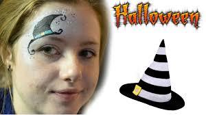 halloween witch hat eye design face paint tutorial splash