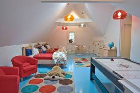 gaming bedroom design kids contemporary with polka dots game room