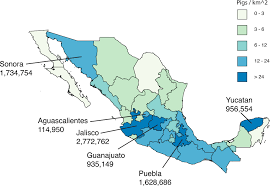 Jalisco Mexico Map Origins Of The 2009 H1n1 Influenza Pandemic In Swine In Mexico Elife