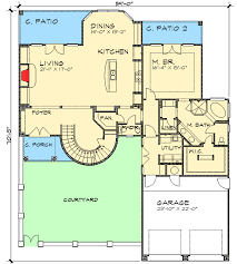 mediterranean floor plans with courtyard two story mediterranean home plan 36804jg architectural