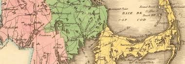 map of massachusetts counties antique state map includes boston corner counties buchon 1825