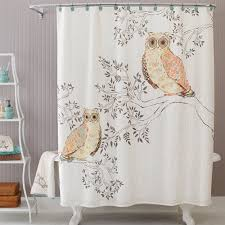 Curtains Birds Theme Bath