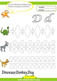 kids under 7 letter d worksheets