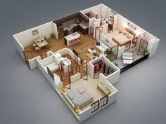 appartement 2 chambre 50 plans 3d d appartement avec 2 chambres appartements plans et