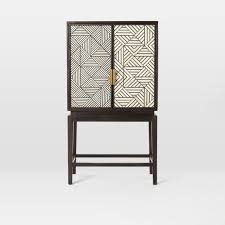 west elm bar cabinet black and white inlaid drinks cabinet drinks cabinet mad and house