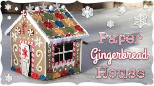 pattern for large gingerbread house paper gingerbread house tutorial craftmas youtube