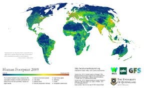 Population Map Of Canada by Average Human U0027s Ecological Impact On The Planet Shrinking Study