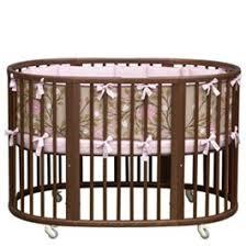 Oval Crib Bedding Dwellstudio Crib Set Oval Check Blossom Crib Portable Crib
