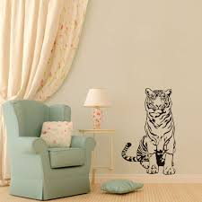 online get cheap stickers on the wall tiger aliexpress com tiger sitting on floor wall stickers quotes removable vinyl wall art decals 3d poster vinilos paredes