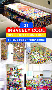 diy ideas for home decor 21 insanely cool diy lego furniture and home decor creations