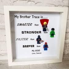 personalised marvel super hero framed gift gifts for him