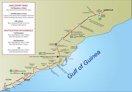 Map Of Ghana Africa by Aim Announcements And Messages Accra International Marathon