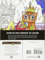 amazon com creative haven owls coloring book coloring
