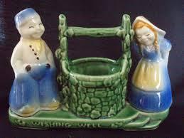 shawnee pottery planter dutch couple wishing well