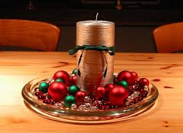 diy candle centerpiece table silver pillar candle