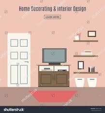 home interior interior design living room stock vector 424571344