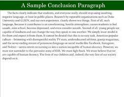 Conclusion of an argumentative essay   helalinden com Helalinden com Purdue OWL  Essay Writing