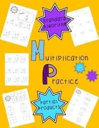 multiplication with area models and partial products qr code task