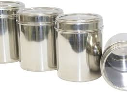 stainless steel canisters kitchen photo 10 kitchen ideas