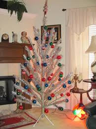 vintage aluminum christmas tree aluminum christmas tree and color wheel 6 12 ft mid century vintage