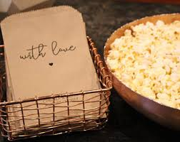 popcorn sayings for wedding popcorn bags etsy