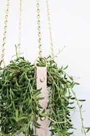 Diy Hanging Planter by Hanging Leather Strap Planter Diy U2013 A Beautiful Mess