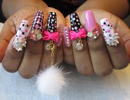 pink kawaii nails youtube