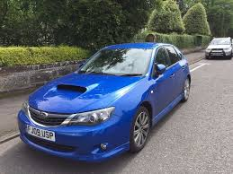 subaru impreza hatchback wrx 2009 subaru impreza wrx blue hatchback car petrol manual full