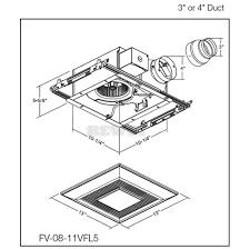 Retrofit Bathroom Fan Panasonic Whisperfit Ez Fv 08 11vfl5
