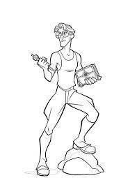 atlantis lost empire character milo thatch coloring pages