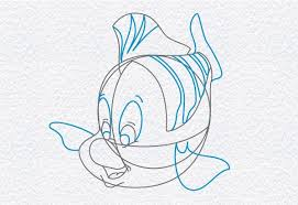 draw flounder mermaid doodleberry patch