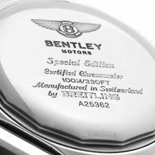 bentley motors speed by breitling breitling white bentley motors chronograph silver dial mens a25362