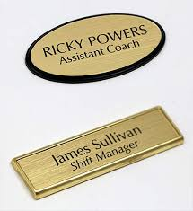 gold name tag custom name badge badge holder