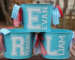 custom easter baskets personalized easter basket pail monogrammed easter sports