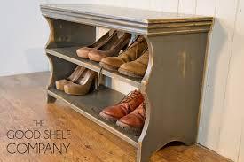 Shoe Bench Uk Shoe Storage Cabinet Rack Bench Stool Vintage Grey Amazon Co