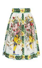 cotton skirt floral print cotton skirt by dolce gabbana moda operandi