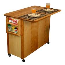Mobile Kitchen Island Butcher Block by Catskill Butcher Block Island With Drop Leaf