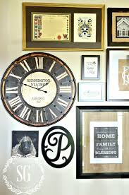Art Wall Clock by Adding A Clock To A Wall Gallery And A Giveaway Stonegable