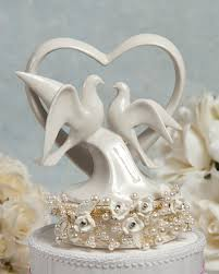 dove cake topper vintage pearl and dove wedding cake topper wedding cake
